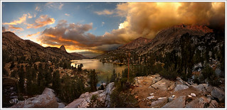 Rae Lakes Sunset - 2013 South Lake to Onion Valley JMT Hike