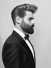 370 (rrttrrtt555) Tags: hairy shirt hair beard formal tie bowtie suit tuxedo jacket tux