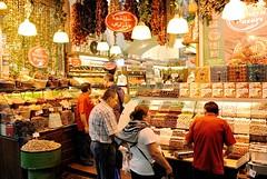 A typical sweets and spices market stall at the Spice Bazaar (unlawyer) Tags: turkey market turkiye istanbul bazaar spicebazaar msrars