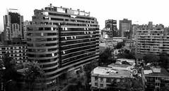 (*paz) Tags: atardecer blackwhite edificios bn providencia tobalaba santiagochile costaneracenterterraza