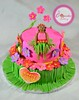 Luau cake (The Cupcake Factory Barbados) Tags: birthday pink girl cake head flip luau flops tiki fondant