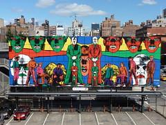 201309233 New York City Chelsea High Line Park (taigatrommelchen) Tags: city nyc newyorkcity urban usa ny newyork art advertising chelsea manhattan highline 20130938