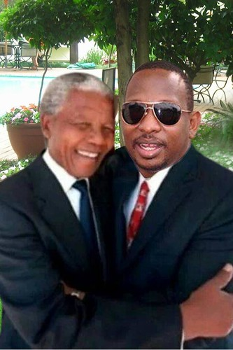Kenyan Senator Mike Sonko posts on his Facebook about the time he met Mandela. Hmm...