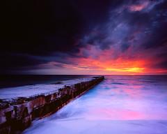 Sunset Thunderstorm (josesuro) Tags: sunset storm film beach landscapes florida fineart velvia prints 4x5 2009 largeformat drumscan fineartweb ebonysv45ti sarasotabradenton jaspcphotography josesuro