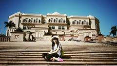 In front of Emirates Palace (~~Olivia ZZ~~) Tags: travel vacation dubai ship emirates abudhabi oman 旅行 cruises msc s4 船 sumsung 阿曼 邮轮 2013 迪拜 中东 阿布扎比 阿联酋 snapseed flickrandroidapp:filter=none