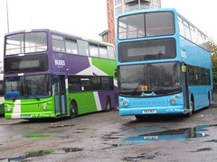 Ipswich Buses 20 (Y436 NHK) & 19 (V162 MEV) (M. Webster) Tags: bus london buses warrington birmingham central alexander dennis stagecoach ipswich ib trident alx400 selkent ipswichbuses coachways 17162 v162mev 17436 y436nhk