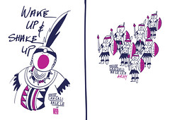Life in Yeboland (DimitraTzanos) Tags: life art happy design cherries funny moments boobs spears african yes chief drawings mama warrior positive doodles naive sketches simple zulu tees ndebele yebo kozis tzanos