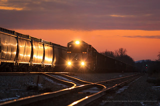 Coal Meets Grain at Sunset in Kingston, Ohio