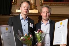 Kristian Svensson och Rasmus Lindström från Sembo, Bästa förbättrare, samt nominerad till Web Service Award 2013 i klassen E-handel.