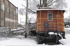 (Rob Swatski) Tags: winter snow storm ice train chocolate caboose pa lancaster february icy wilbur lititz swatski