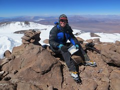 The summit of Bonete (6770m)