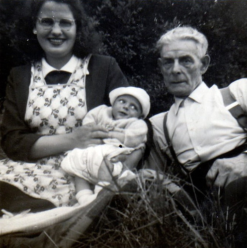 Mary with Colin and Frank 1950s