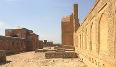 a side view (Doc Kazi) Tags: pakistan heritage history grave graveyard ancient graves tombstones sindh tombs islamic thatta makli vision:outdoor=099 vision:sky=0751