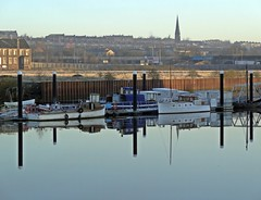 Over To The Other Side (Bricheno) Tags: church reflections boats scotland glasgow escocia szkocja govan schottland scozia cosse  esccia   bricheno scoia