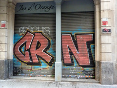 Graffiti in Barcelona 2013 (kami68k []) Tags: barcelona graffiti illegal bombing bunt crn 2013