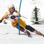 Kelley Steves racing SL.              PHOTO CREDIT: Gordon Kwong