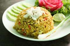 Thai cuisine ,fried rice with crab (By Jan_) Tags: food white hot flower green chicken love home cooking yellow dinner menu asian lunch healthy mixed asia dish rice sauce indian tofu egg group chinese culture crab plate shrimp vegetable fresh east gourmet delicious health thai meal dining onion stir fried serving savory preparing refreshment