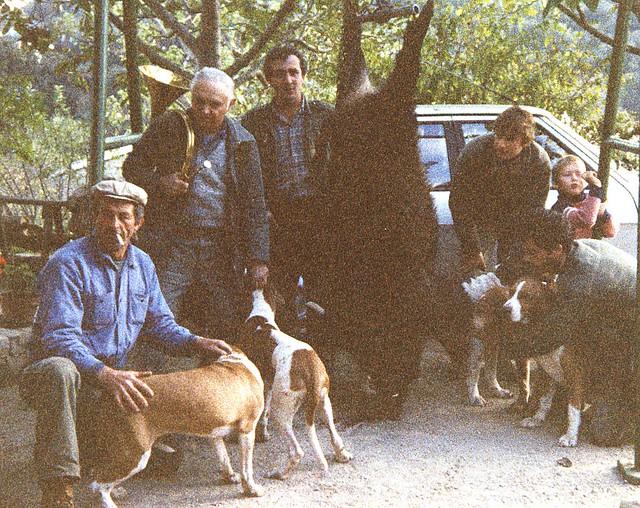 De gauche à droite : Dédé NOEL, Robert MINGEAUD, Maurice GHIO, Didier DAUPHIN et Jean-Marc MARTINEZ.