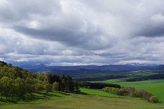 Queen Victoria's View. (artanglerPD) Tags: trees snow mountains sunshine spring hills fields
