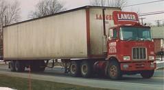 Langer heading east (PAcarhauler) Tags: tractor truck semi mack coe f700 fmodel