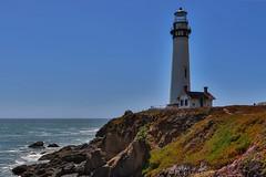 Pigeon Point Lighthouse HDR, San Mateo County, California (davidcmc58) Tags: ocean california lighthouse sanmateocounty