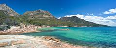 Coles Bay (laurie.g.w) Tags: park sea seascape rock bay coast australia tokina national tasmania coastline 35 waterway rmc coles freycinet 17mm thehazzards
