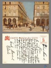 PARIS - Statue de Jeanne d'Arc & la rue des Pyramides (bDom) Tags: paris 1900 oldpostcard cartepostale bdom