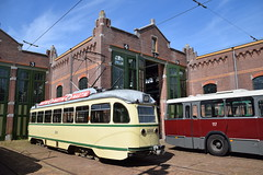 HTM 1210 HOVM Den Haag (eddespan (Edwin)) Tags: tram streetcar museumtram pcc htm trammuseum strasenbahn remisefranshalsstraat hovm nrichtingstram