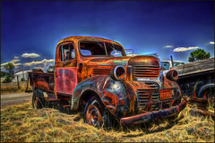 Rust Never Sleeps (danielgweidner) Tags: truck landscape nik hdr topaz sandhills nsp photomatix eos5d fractalius nikcolorefx viveza2