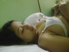 breast Sleeping girl