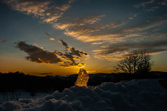 DSC_0430 (diepegiz) Tags: light sunset sun mountain snow ice clouds reflections ghiaccio trasparency faiallo
