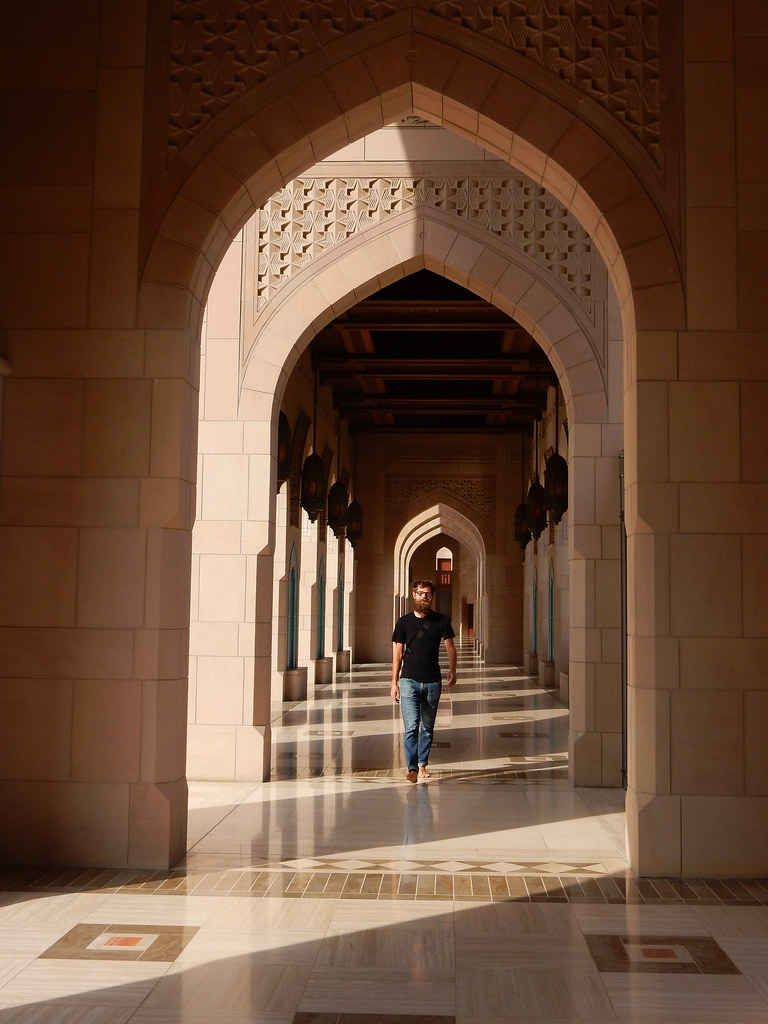 Shaded Corridors of the Grand Mosque