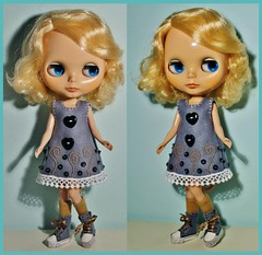 Kiki (Big-Eyed) Tags: me by outfit doll dolls dress lace embroidery felt collection dresses mano blythe feltro embroidered byme abito fatto amano bambola hanmade vestito ricamo cucito lenci pannolenci hansewed