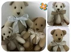Trio beginho (Two Moms craft) Tags: baby de teddy pano trio decorao menino urso ursos ursinhos