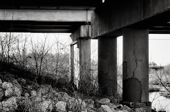 where trolls might live (fallsroad) Tags: bridge blackandwhite bw overpass jenksoklahoma
