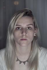 Autorretrato (Laurie Monster) Tags: portrait woman selfportrait argentina girl 50mm mujer buenosaires nikon chica retrato interior autoretrato young piercing ring indoors blonde rubia fotografia joven septum