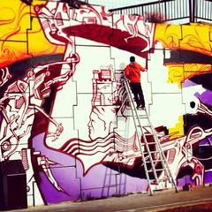 Alicante (ikanografik) Tags: street streetart france art valencia square graffiti spain artwork alicante squareformat graff kano ikano bigwall cantbestopped cbscrew kanos iphoneography onoffcrew instagramapp uploaded:by=instagram odvcrew