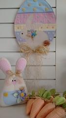 PÁSCOA (Ka Comelli) Tags: casa arte feltro deco coelho decoração pascoa ovo tecido aplique feltr enfeiteporta