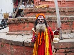 A Sadu ( holyman) near Durbar square, Kathmandu!