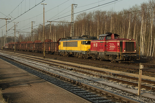 Bentheimer Eisenbahn D21 en Locon 9901, Bad Bentheim 16-02-2015