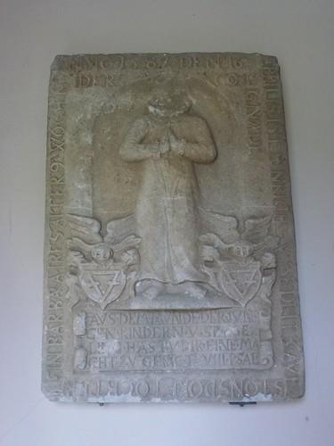 Epitafium (1587) w przedsionku kościoła Przemienienia Pańskiego w Staniszowie