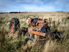 (T)rusty Tractor (Johnners61) Tags: old uk england field landscape rust britain rusty lancashire vehicle scrap relic rossendale oldtractor rustytractor rawtenstall dunnockshaw loveclough