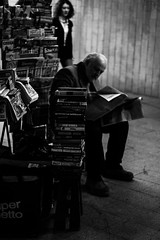 """""""Watching news"""" (ELMARS LAUSKIS) Tags: street old white news man black men canon photography newspaper mood moody uncle streetphotography story elder generations generation elmars elmrs 1200d lauskis"""