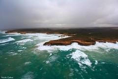 12 Apostles Coast, Australia (PrettyHungry) Tags: ocean travel sky beautiful photography coast australia melbourne aerial 12apostles hellicopter