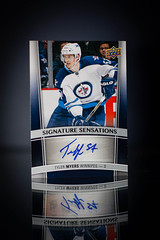 Tyler Myers Signature Sensations (cdn_jets_cards) Tags: auto ice hockey cards 1 winnipeg signature jets tyler deck upper series sensations myers hockeycards 201516