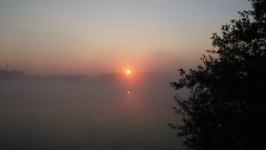 20140809_063737 (ebamarama) Tags: mist dawn pond lg g2