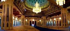 Interior panorama (oobwoodman) Tags: panorama mosque chandelier swarovski oman muscat mosque grandmosque moschee