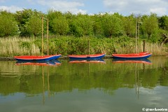 Koedood (MichelvanKooten.werkaandemuur.nl) Tags: red holland green netherlands reflections boats boat barendrecht grienden carnisse