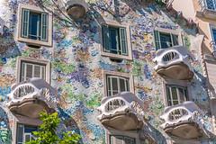 Masks (smallcirclesphotography) Tags: barcelona windows streets colour facade casa spain europe masks gaudi balconies organic batllo