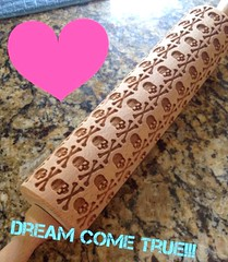 Skulls Rolling Pin by HousemateArtist (www.suziethefoodie.com) Tags: by skulls pin etsy suzie seller rolling foodie housemateartist